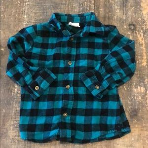 Jumping Beans Flannel Button Down